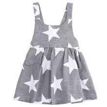 Baby Girls Toddler Kids Star Summer Sleeveless dress Beach dress Sundress Party Dresses Wholesale