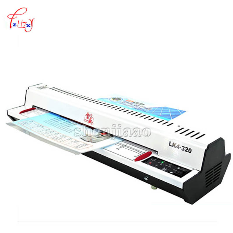 A3/A4 Cold Roll laminator 320mm Laminating Machine, 4 Roller System photo laminator LK4-320 220v 300w cold laminator a3 a4 roll laminator laminating machine 4 roller system photo laminator lk4 320 220v 300w cold laminator