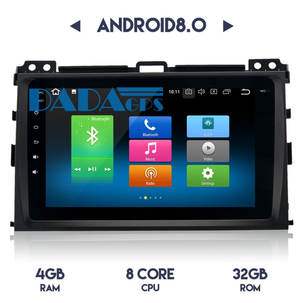 2din Android 8.0 7.1 Auto Radio Gps Navi Autoradio Voor Toyota Oude Prado 2004 2005 2006 2007 2008 2009 Auto Stereo Satnav Multimedia