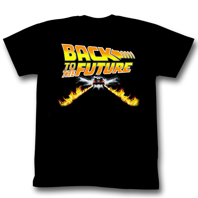 BACK TO THE FUTURE BTF CAR BLACK Mens Adult Short Sleeve T-Shirt Printed T Shirts Short Sleeve Hipster Tee Printing