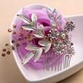 Hecho a mano de Oro Peine Del Pelo Celada Joyería Pelo de Las Mujeres de La Vendimia Floral de La Perla Nupcial de La Boda Accesorios Para el Cabello