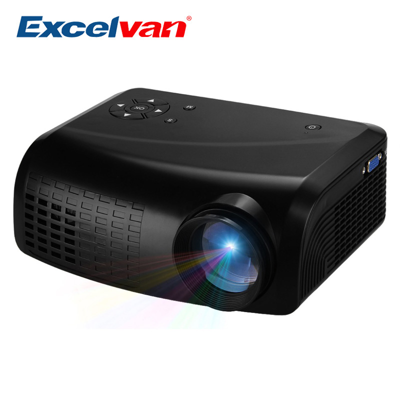 Led Lcd Projector X7 Home Cinema Theater Multimedia Led: Refurbished 70% New Excelvan E07 Mini LED LCD Projector