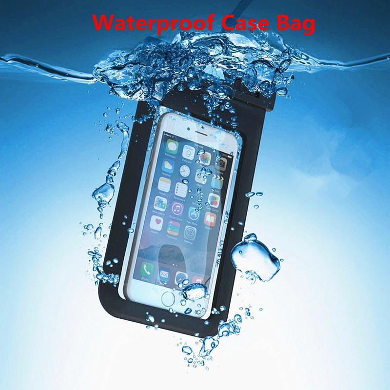 100% Sealed Universal Underwater Waterproof Bag Case for IPhone X 8 7 6 6s Plus for Samsung Xiaomi Redmi Pouch Mobile Phone Case