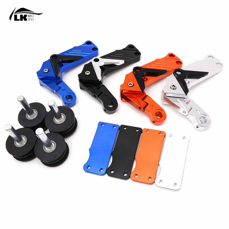 Universal motorcycle accessories CNC Automatic Adjustable Conversion Motorcycle Chain Tensioner  For  ktm RC8 RC 390 NINJA 250 for ktm 390 duke motorcycle leather pillon passenger rear seat black color