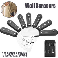 7Pcs Wall Paint Scraper Stainless Steel Putty Knife Set 1 1 5 2 2 5 3