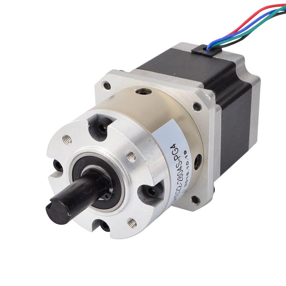 Nema 23 Stepper Motor Bipolar L=56mm w/ Gear Ratio 4:1 Planetary Gearbox nema23 geared stepping motor ratio 50 1 planetary gear stepper motor l76mm 3a 1 8nm 4leads for cnc router