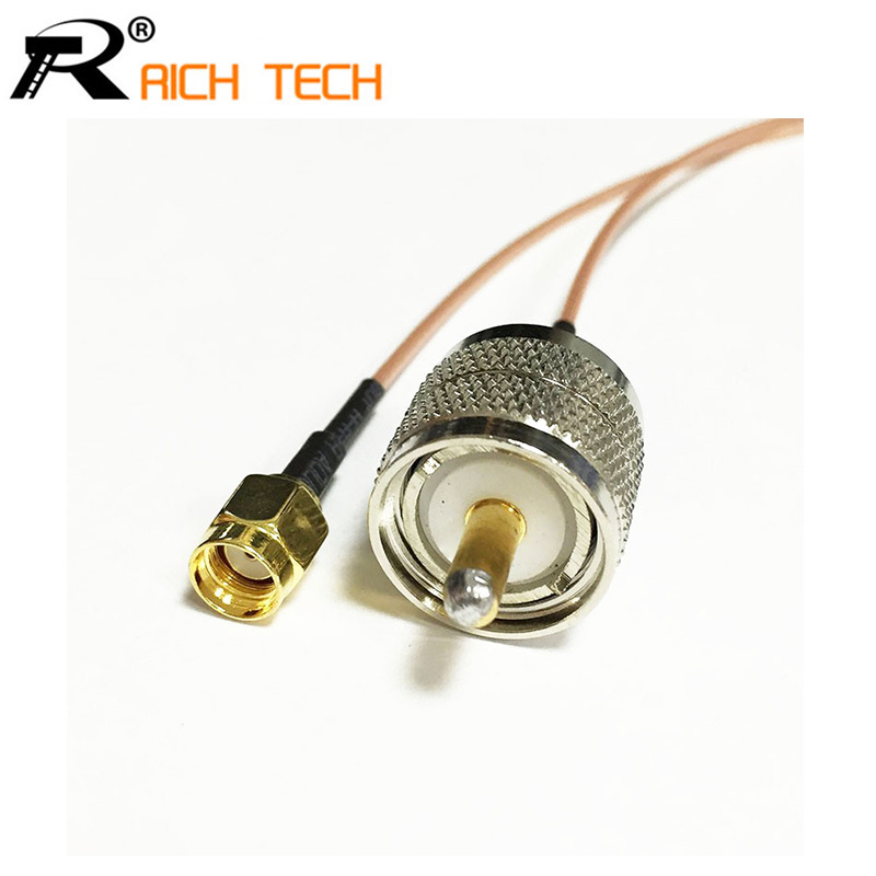 New RG178 UHF Male Plug PL259 to RP-SMA Male pigtail cable 15CM 6 Adapter 2015 new arrival rg174 x 15cm 1pcs rp sma female to y type 2xts9 ts 9 plug splitter combiner cable jumper pigtail
