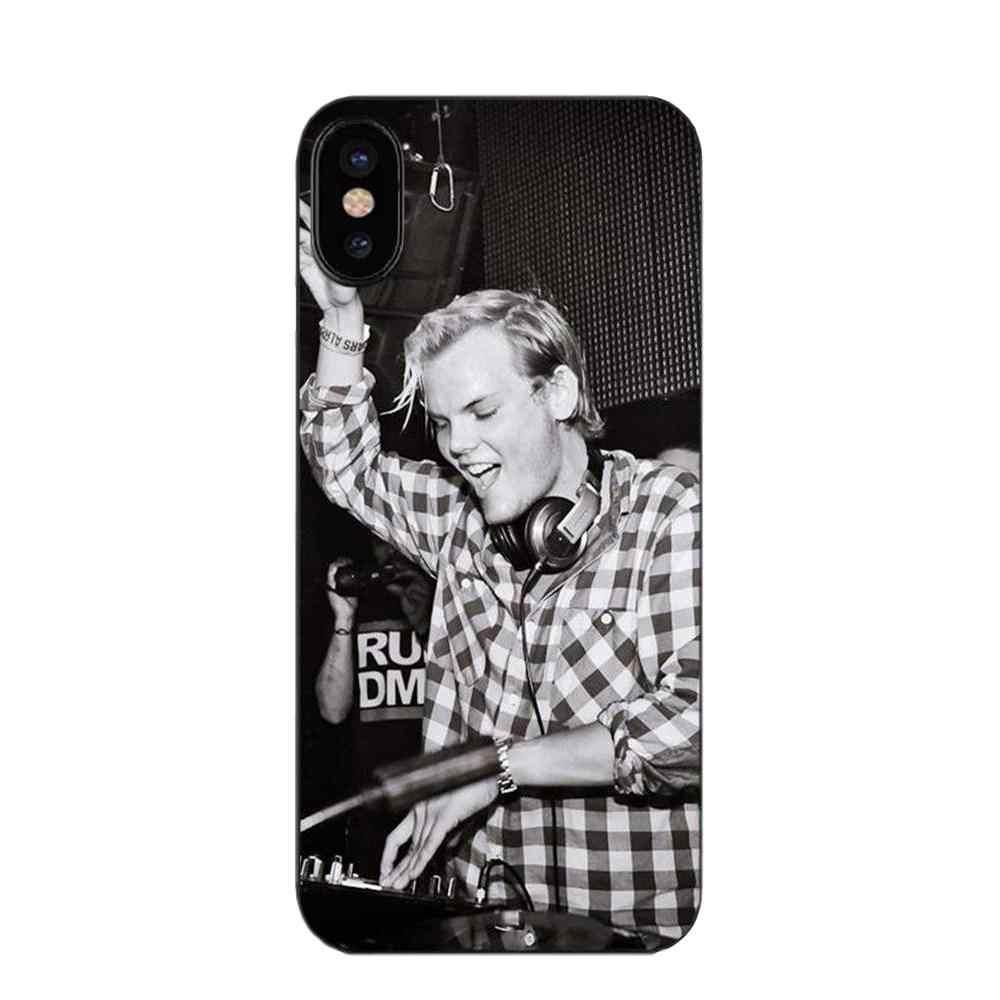 Oedmeb DJ Avicii Ular Lembut Fashion Asli untuk Galaxy Alpha Core Prime Note 4 5 8 S3 S4 S5 S6 s7 S8 S9 Mini Edge PLUS