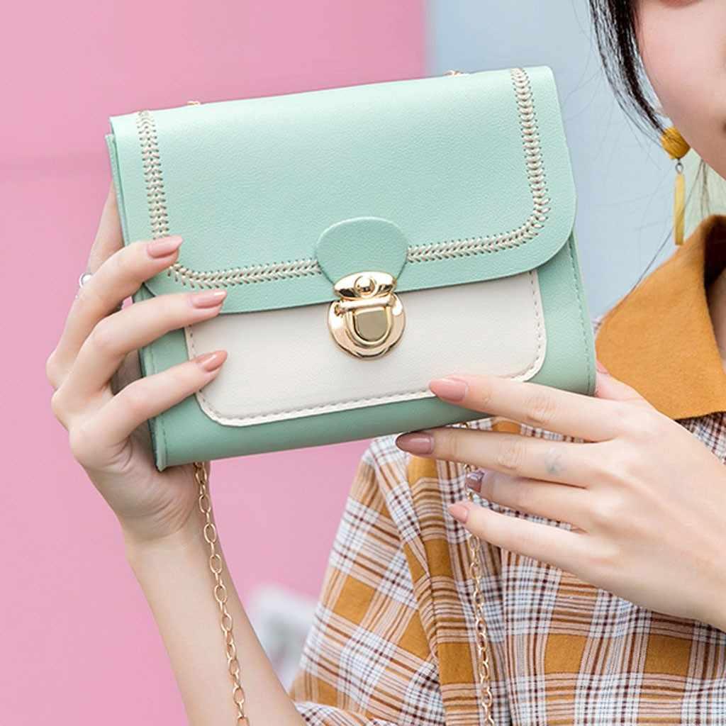 ファッション女性肩小さなバックパックカバー手紙財布メッセンジャーバッグハンドバッグ 2019 高品質 Pu レザーチェーン携帯電話