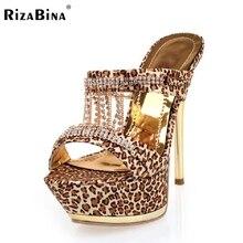 RizaBina бесплатная доставка высокие сандалии пятки женщин сексуальное платформа модной обуви обувь P14552 EUR размер 34-38