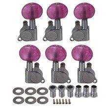 6x Yibuy Zinc Aleación De Rose Red Head Guitarra Clavijas de Afinación Machine Head Sintonizadores 3R3L