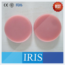 6 Pieces Pink Color Dental PMMA Disc Wieland Milling System CADCAM Dental PMMA Blanks For Temporary