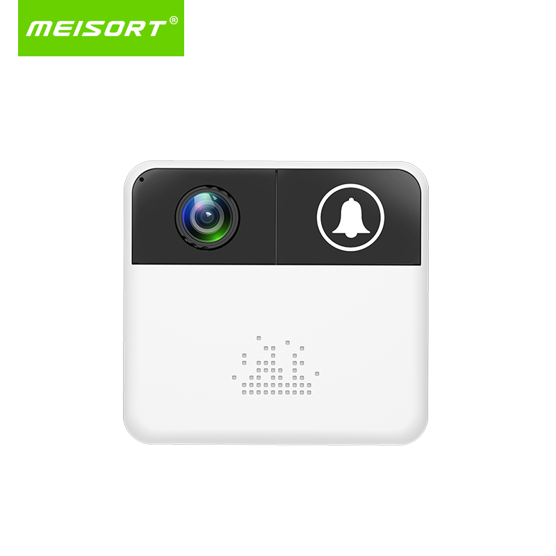Meisort Video Doorbell ip wifi Wireless Camera 720p 1.0mp wi-fi Home Doorbell Camera 140 degree view AA battery 32G card