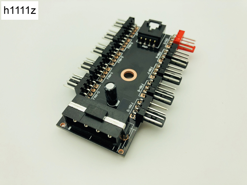 Support PWM 1 to 10 Channel Hub IDE Interface Power Splitter For 12V 4Pin Fan