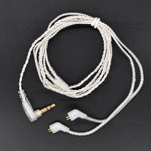 Original KZ Upgraded Plated Silver Cable for KZ ZST/ZST Pro Dedicated Cable 0.75mm 2-Pin 2 PIN Upgrade Repair Cables
