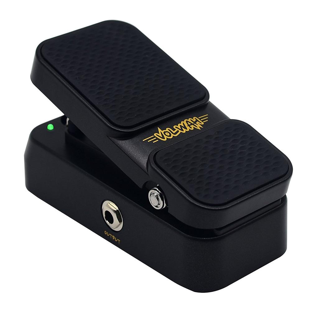 Sonicake 2 en 1 volumen activo Vintage Wah sonido guitarra efectos Pedal LED luz muestra QEP-01