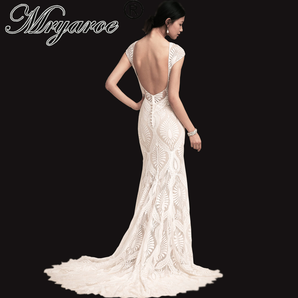 Detail Feedback Questions about Mryarce Unique Lace Bohemian Wedding Dress  With Cap Sleeves Open Back Mermaid Boho Bridal Gowns on Aliexpress.com  5a31bb7e9a0d
