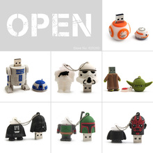 Pen drive 64GB, Cartoon USB Pen drive Star wars darth vader 4GB/8GB/16GB/32GB usb flash drive flash memory stick pendrive U disk