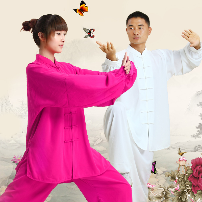 2016 New Chinese Kung Fu Suit Tai Chi Clothing Cotton Martial Art Uniform Wushu Taiji Clothing Taijiquan Practice Sets