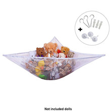 Bath Organizer Dolls Storage Bedding Flexible Bedroom Stuffed Net Toy Hammock Baby Kids Corner Hanging(China)