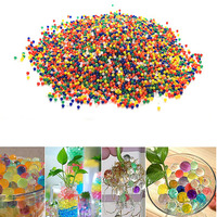 1kg/bag Colorful Water Beads Mud Pearl Shaped Crystal Soil Paintball Grow Magic Jelly Balls Home Decoration