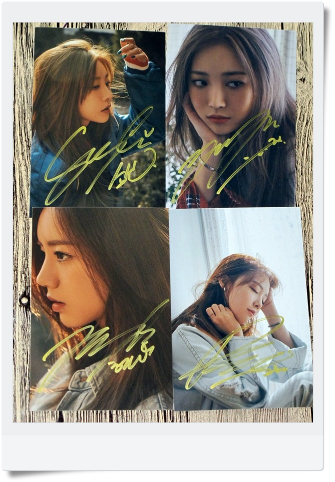 signed GIRLS DAY Girl's Day  autographed  original photo 4 photos set  6 inches freeshipping 062017 signed apink jeong eun ji autographed original photo 6 inches 6 versions freeshipping 082017b