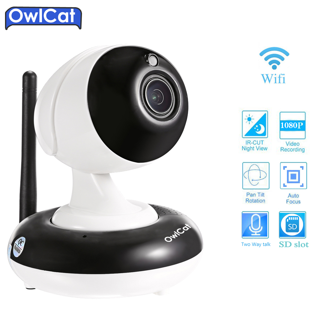 OwlCat HD 1080P 3X Zoom PTZ WIFI Dome IP Camera Wireless CCTV Security Camera Video Baby Monitor Two Way Audio SD Card Onvif P2P howell wireless security hd 960p wifi ip camera p2p pan tilt motion detection video baby monitor 2 way audio and ir night vision