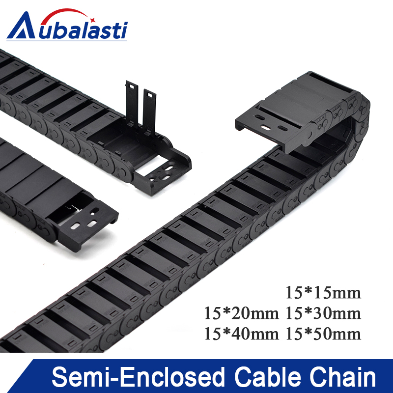 Cable Chain Semi-Enclosed 15*20 30 40 50mm Wire Transmission Carrier Plastic Drag Towline For 3D Printer CNC Engraving MachineCable Chain Semi-Enclosed 15*20 30 40 50mm Wire Transmission Carrier Plastic Drag Towline For 3D Printer CNC Engraving Machine