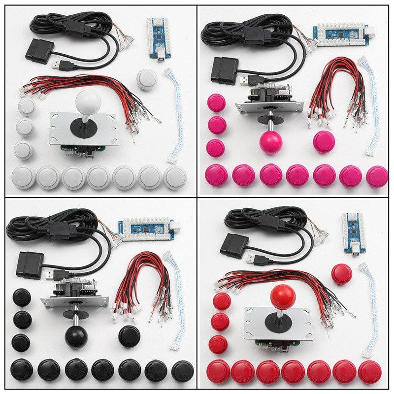 DIY Arcade Joystick Machine Set Kits pour PS2 USB Encoder Joystick Boutons Poussoirs pour Windows pour PS3 Android Système Intelligent