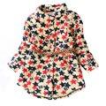 Nueva llegada 2017 niños niñas otoño invierno blusa baby girls patrón espesar ropa niñas ropa