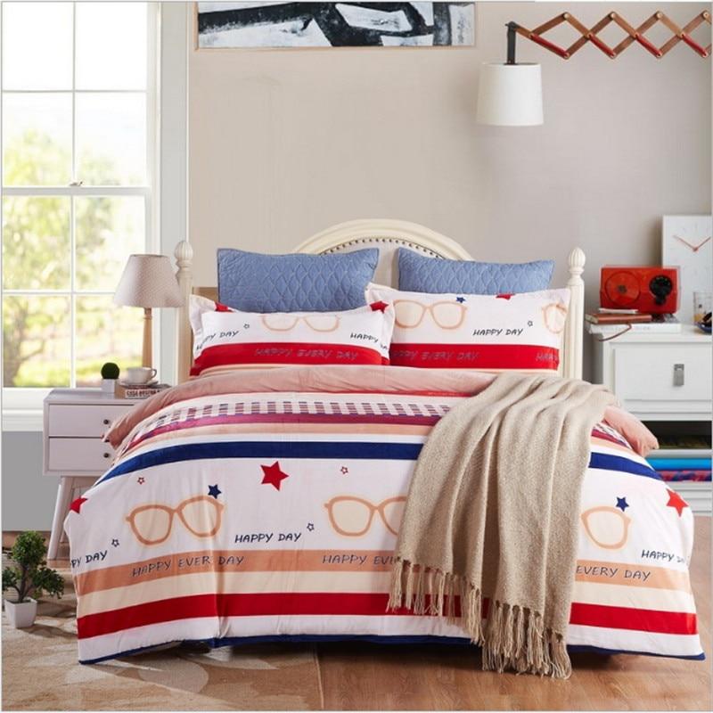 new style Stripe design NEW bedding Keep warm 4pcs 1pcs quilt cover/1pcs bed sheet/2pcs pillowcase free shippingnew style Stripe design NEW bedding Keep warm 4pcs 1pcs quilt cover/1pcs bed sheet/2pcs pillowcase free shipping