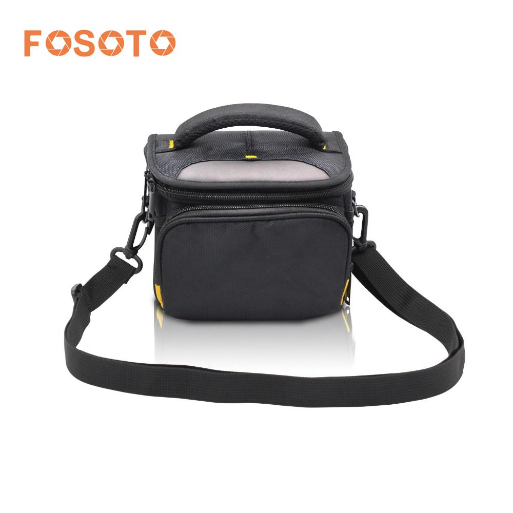 fosoto DSLR Shoulder Bags Digital Video Photo Camera Travel Case Bag with Waterproof Rain Cover for Canon Nikon SLR D3400 D3100