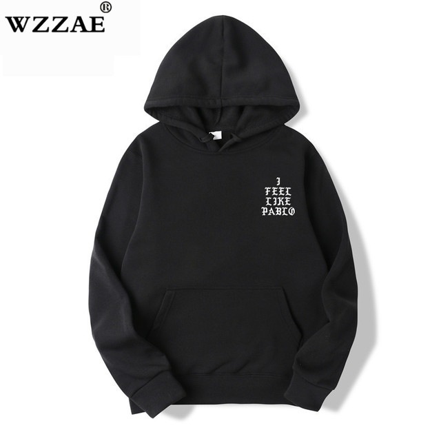 I Feel Like Paul Pablo Kanye West Sweat Homme hoodies Men Sweatshirt Hoodies Hip Hop Streetwear Hoody Pablo Hoodie 1