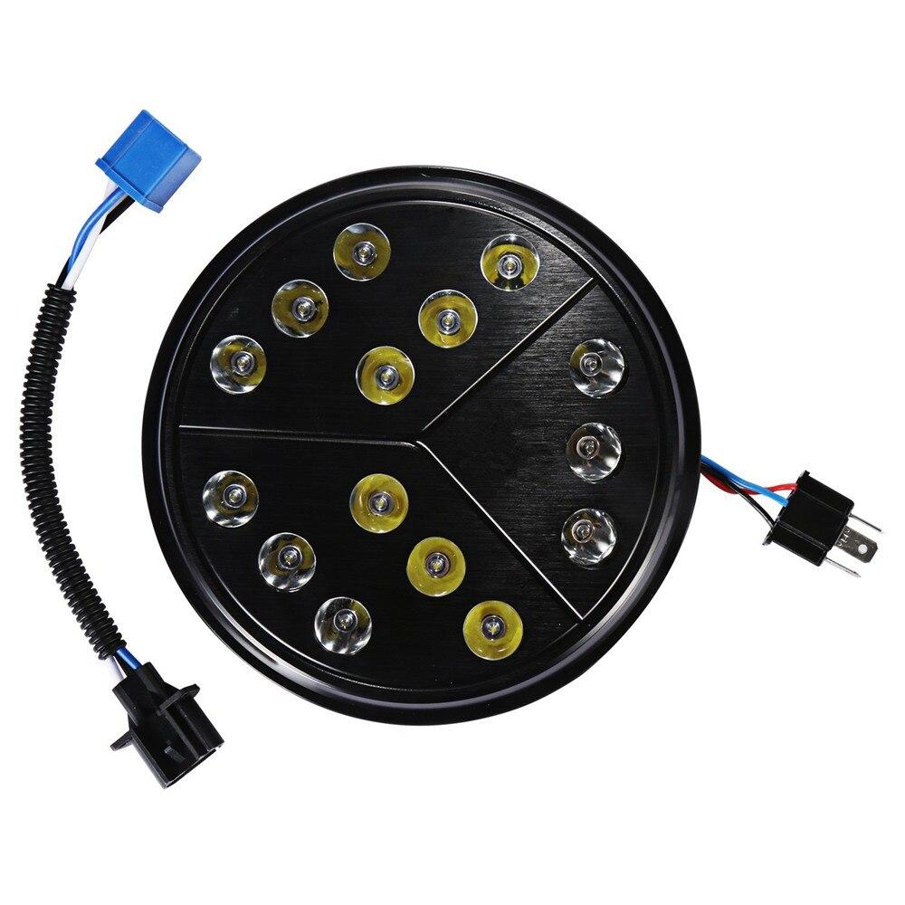 2X 7 Inch Round Hi/Lo Beam LED Arrow Healight For 97-17 Jeep Wrangler TJ JK