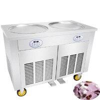Iogurte Máquina de Fritura Pan Rodada Sorvete Frito Fritura Máquina 110 v 220 v Elétrica Comercial de Sorvete Máquina de Rolo preço