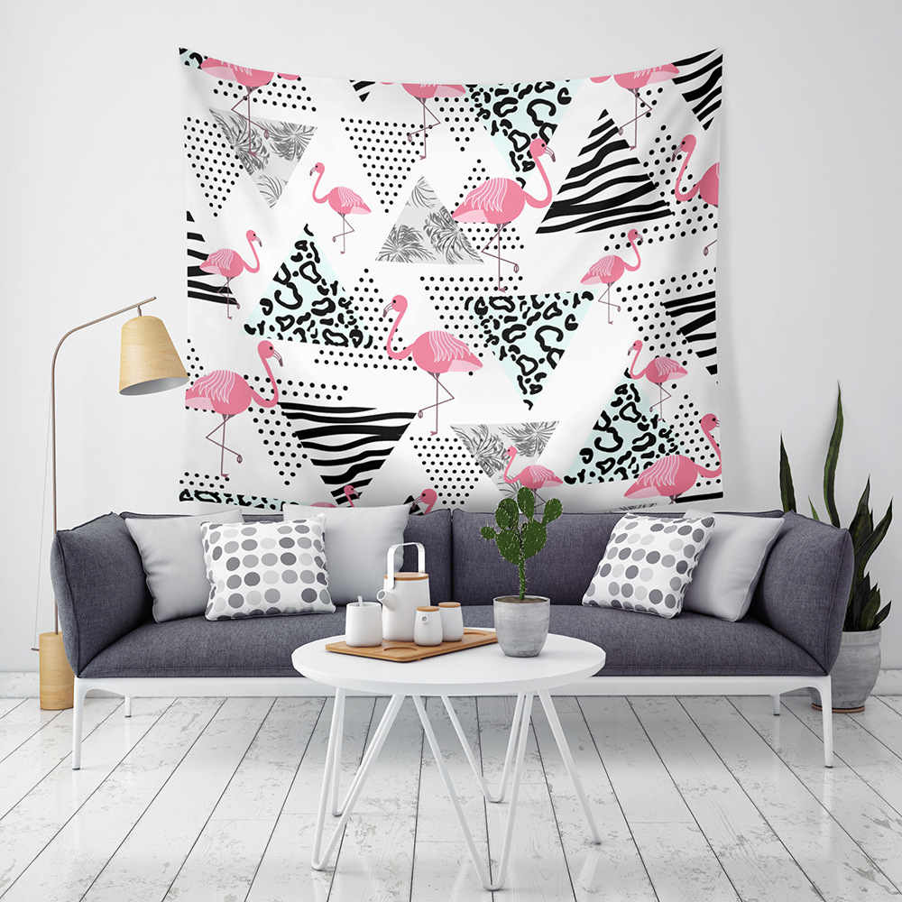 Flamingo Hippie Fashion Home Decor Wall Tapestry Woven Washable Yoga Mat Blanket Indian Mandala Tapestry Multi function Shawl in Tapestry from Home Garden