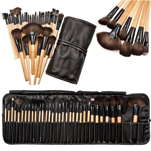 32pcs Professional Soft Cosmetic Eyebrow Shadow Makeup Brush Set Kit+Pouch  Bag a1b87c286fd32