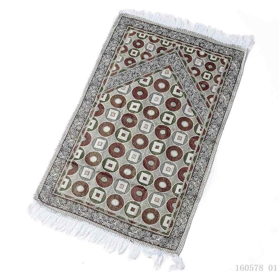 ポータブルイスラム祈りの敷物スモールヴィンテージ曼荼羅敷物ジュートマット長方形タッセル Priere ソフト敷物旅行毛布カーペットキッチン