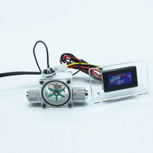 Computer water cooling liquid flow indicator Digital Pointer display Temperature measurement Heat dissipation LED thermometer