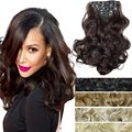 Clip In Curly Hair Haar Extensions 50cm 20inch 7pcs/Set Curly False Synthetic Hair Weave Natural clip in Hair Secrets Extension
