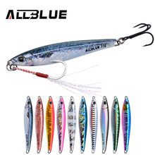 ALLBLUE Metal Jigging Spoon 35g 3D Print Laser Artificial Bait Shore Fishing Casting Jig Lure Super Hard Lead Fish Fishing Lures(China)
