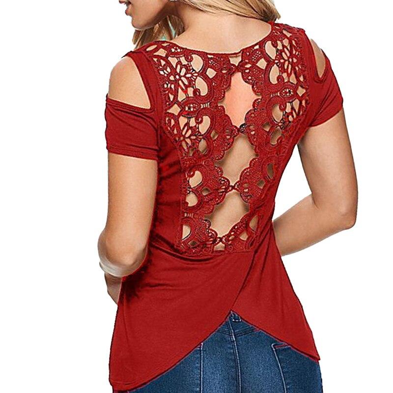 Plus Size 5XL Lace Tank Top Women Blouse Shirt