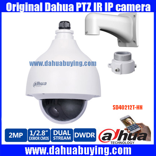 Original english Dahua DH SD40212T HN 2MP IP PoE PTZ with 12x optical zoom Mini PTZ