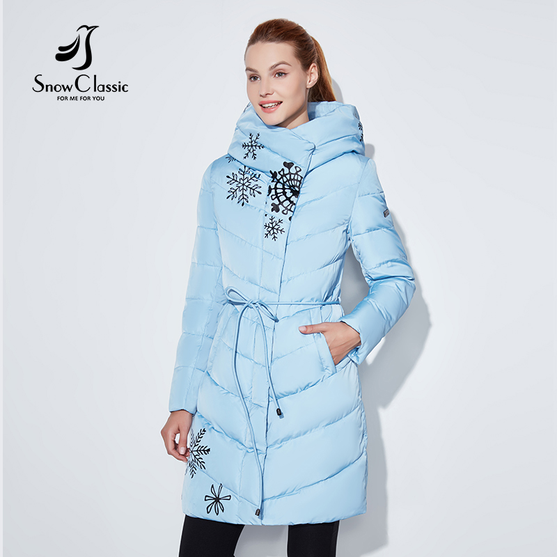 Snowclassic 2018 Spring and Autumn Women s Printed Cotton Top Coat with Fashion and Warm Breathable