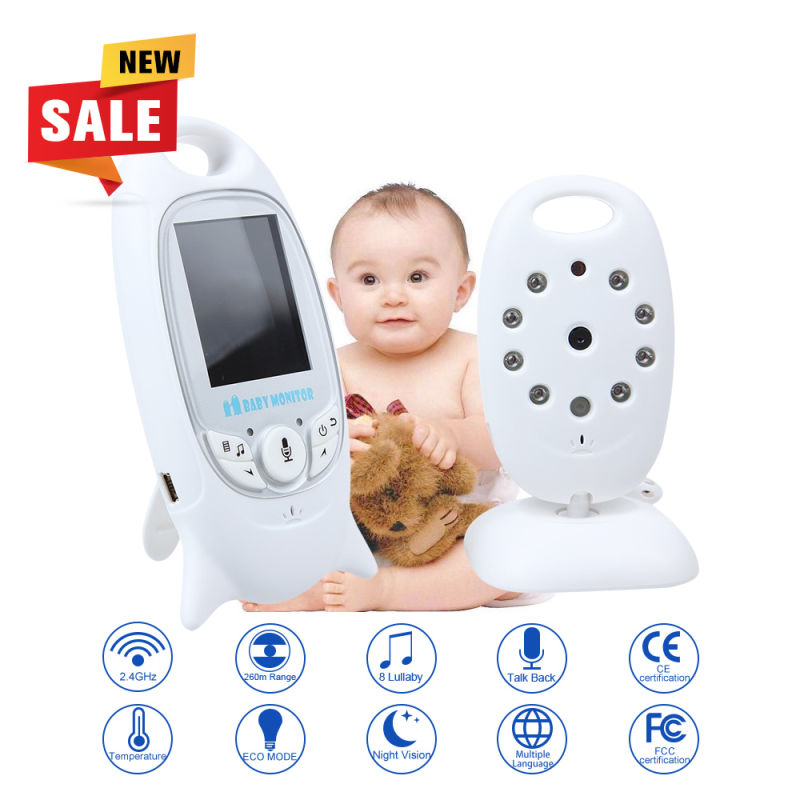 Infant 2 4GHz Wireless Baby Radio Babysitter Digital Video Baby Monitor Audio Night Vision Music Temperature