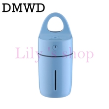 DMWD Portable Mini Aromatherapy Humidifier Air Diffuser Purifier USB LED Light Air Purifier Mist Maker For Home Office Car