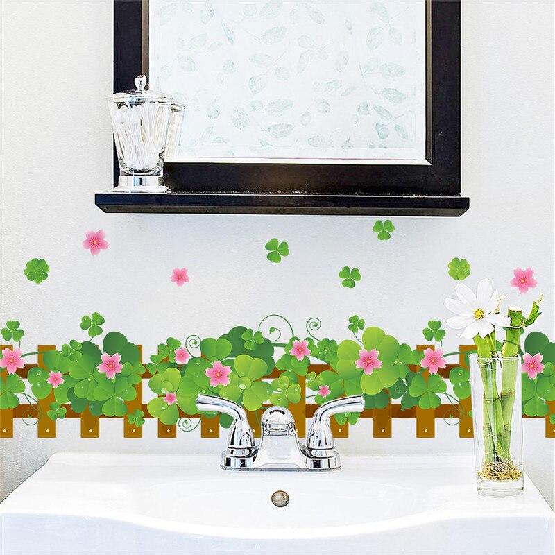 Landhausstil Garten Zaun Blume Wandaufkleber Wohnzimmer Schlafzimmer