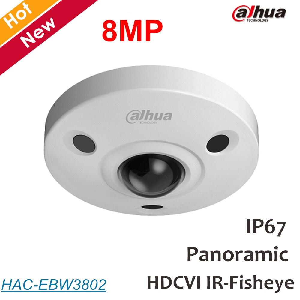 Dahua 8mp Panoramic fisheye Camera HDCVI Camera Built-in mic Waterproof IP67 Coaxial camera IP Camera Max.15m IR distance