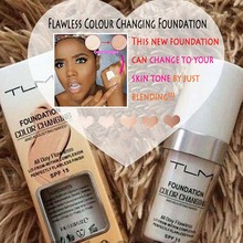 30ml Color Changing Liquid Foundation Makeup Change Oil-control  To Your Skin Tone By Just Blending
