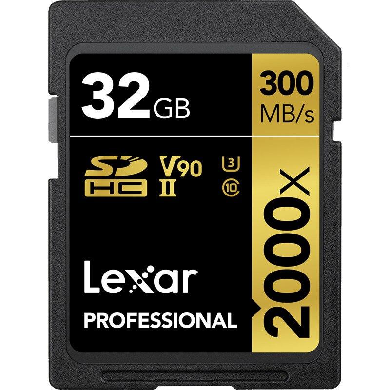 Promotion Lexar 32GB SDHC Card 64GB 128GB SDXC Card U3 2000X UHS II 300MB s High